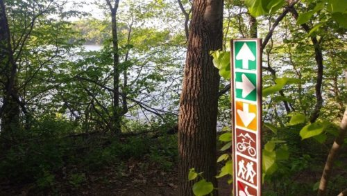 Picture of trail sign at WyCo Lake