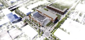 An aerial rendering of what the Keystone Community Corp. office space will look like.